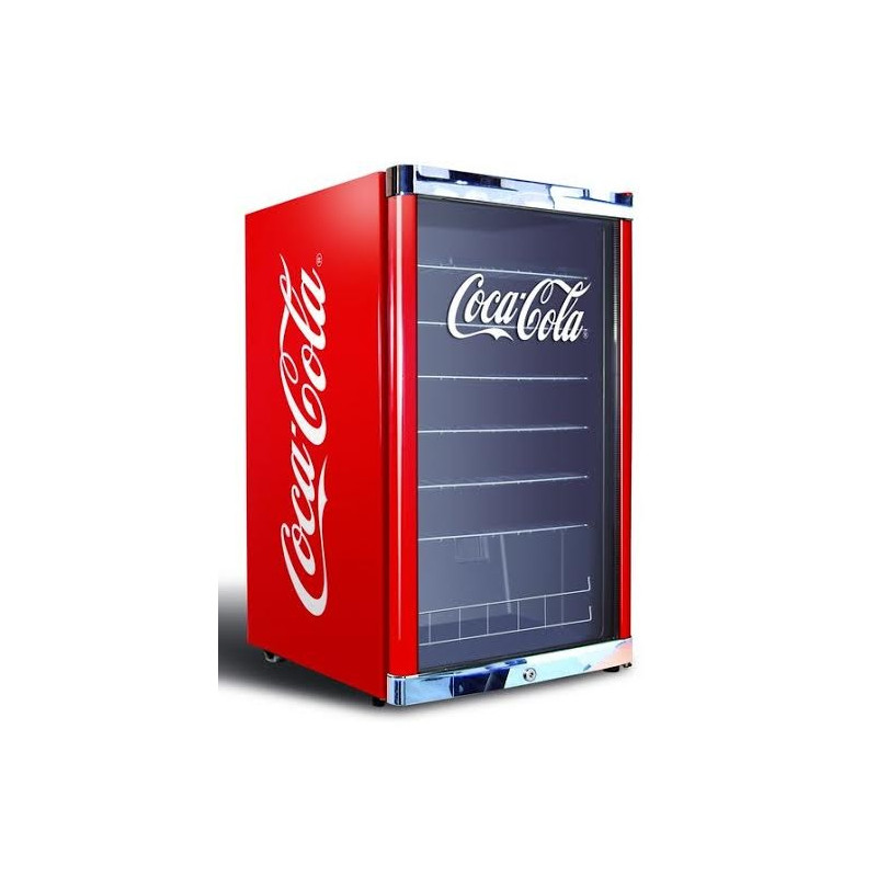 petit frigo vitrine coca cola boissons 115 l rouge pour bouteilles. Black Bedroom Furniture Sets. Home Design Ideas