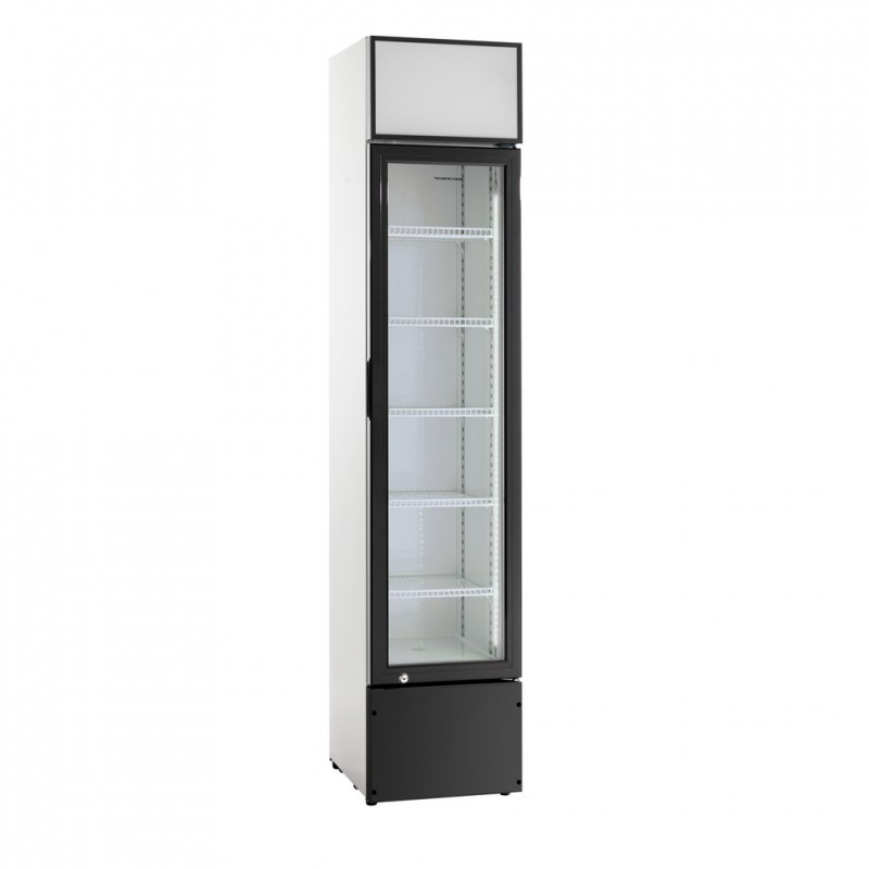 frigo armoire vitrine petite largeur pour boissons 280 l. Black Bedroom Furniture Sets. Home Design Ideas