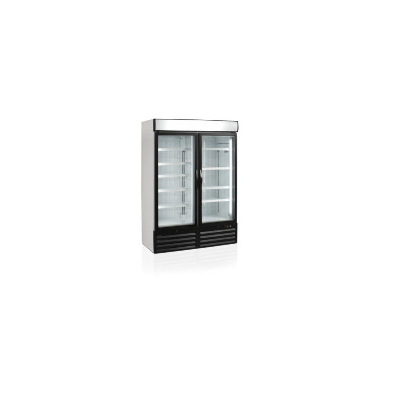 cong lateur vitrine vertical avec deux portes vitr es 930 litres. Black Bedroom Furniture Sets. Home Design Ideas