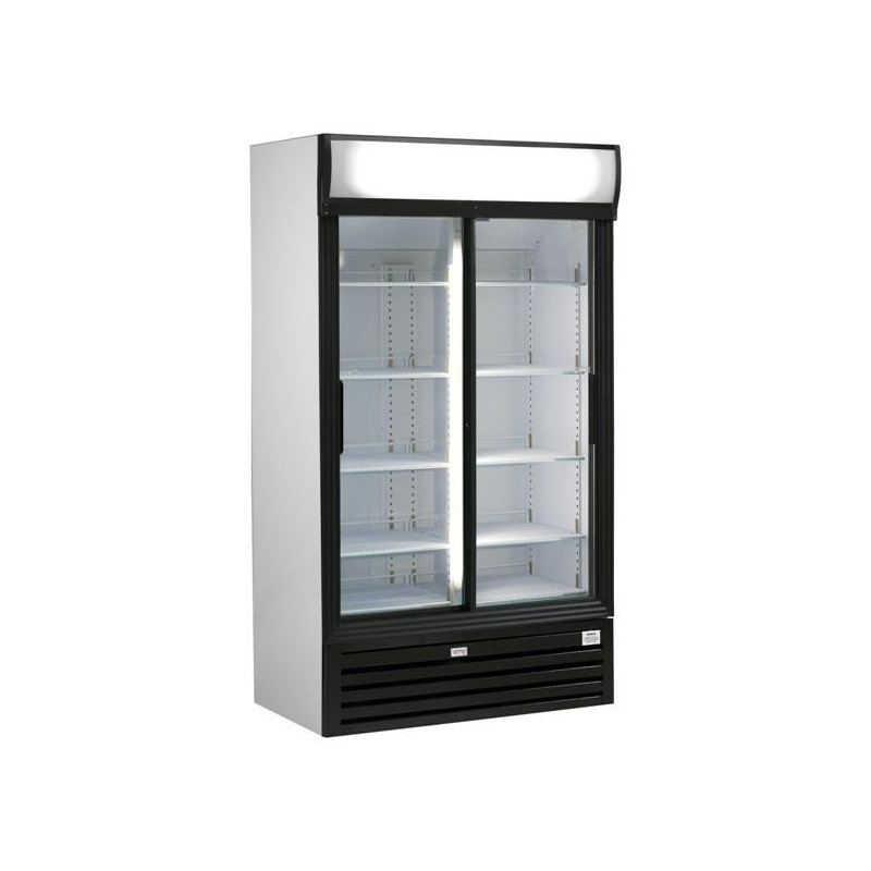 Frigo vitrine double porte 771l pour la conservation de for Decoration porte frigo