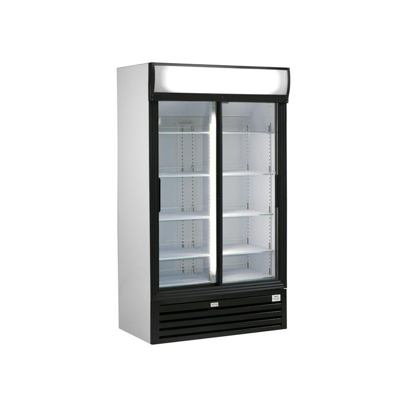 frigo vitrine boissons double porte 970l. Black Bedroom Furniture Sets. Home Design Ideas