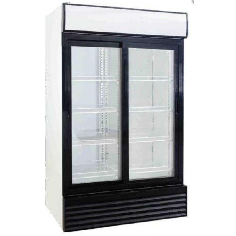 frigo vitrine boissons double portes coulissantes 880 l. Black Bedroom Furniture Sets. Home Design Ideas