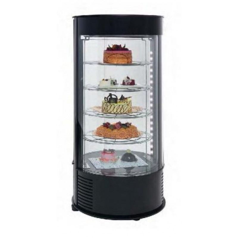 petit frigo vitrine circulaire pour la p tisserie 89 cm. Black Bedroom Furniture Sets. Home Design Ideas
