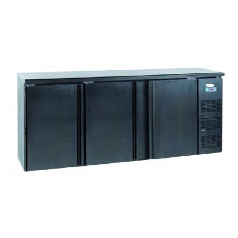 frigo pour arri re de bar avec 3 portes pleines en acier. Black Bedroom Furniture Sets. Home Design Ideas